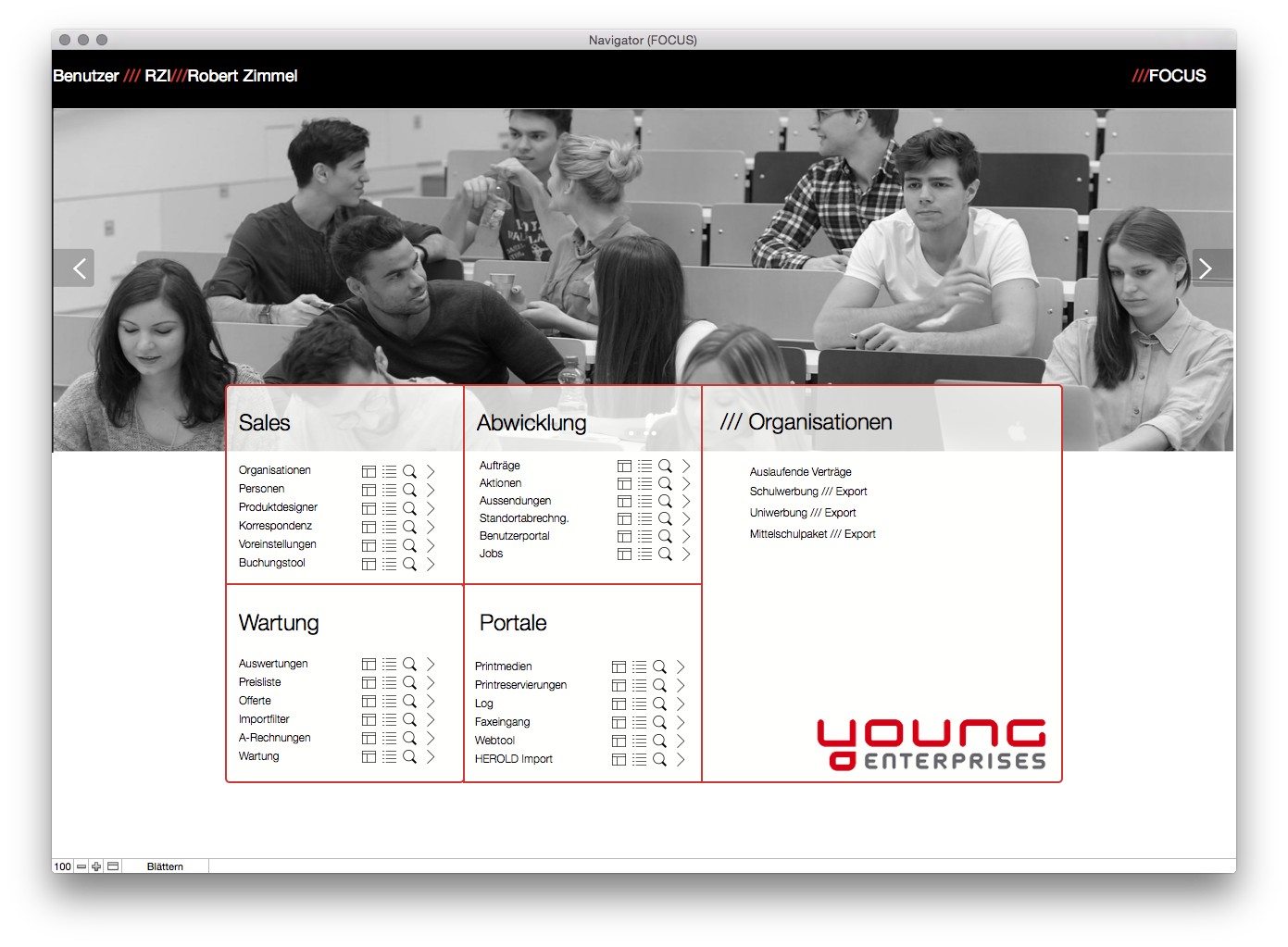 Young Enterprises FOCUS / Redesign